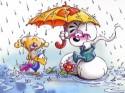 Diddl sous la pluie