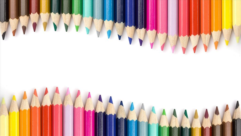 fond d 39 cran crayons de couleur. Black Bedroom Furniture Sets. Home Design Ideas