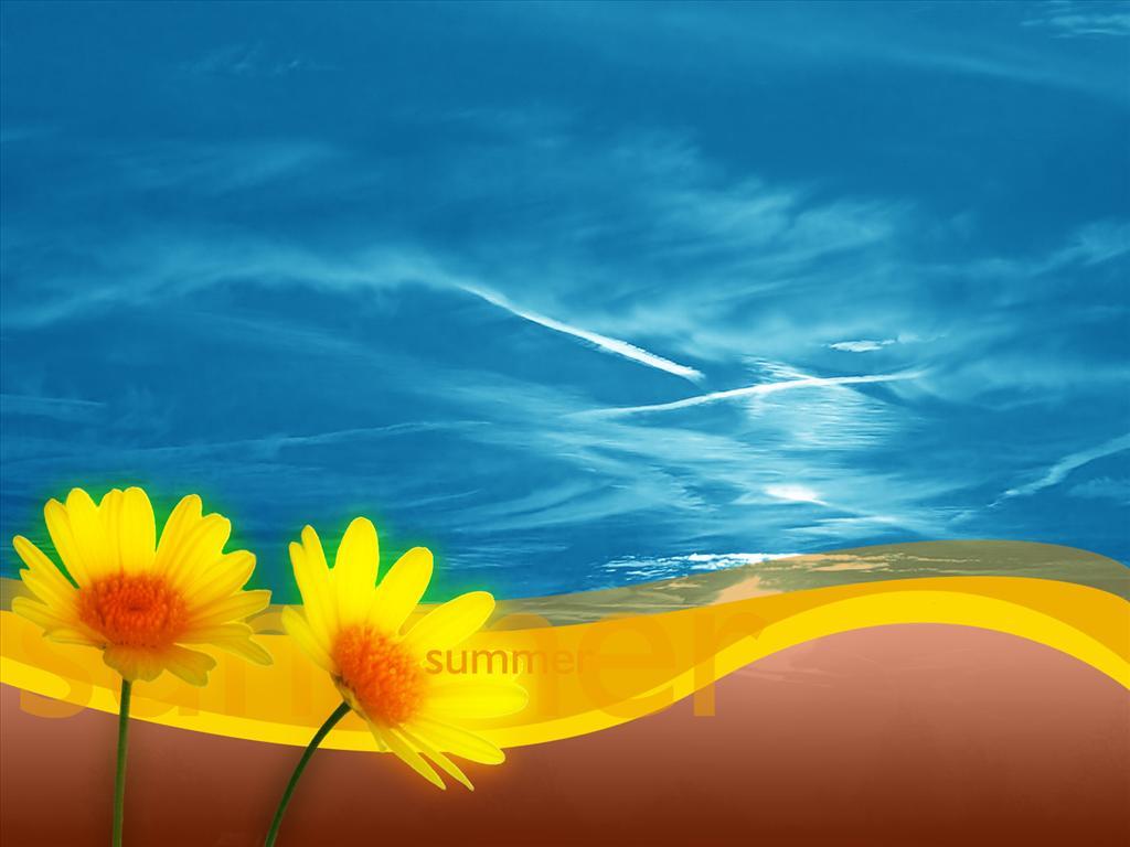 Fonds d cran d t gratuit peinture for Image ete fond ecran