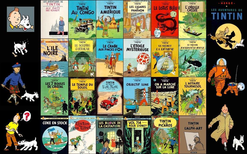 Papier Peint Tintin Et Milou fond d'écran les aventures de tintin