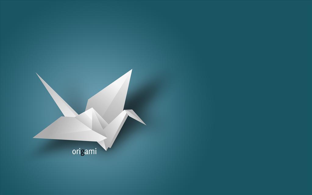 fond d'ecran origami
