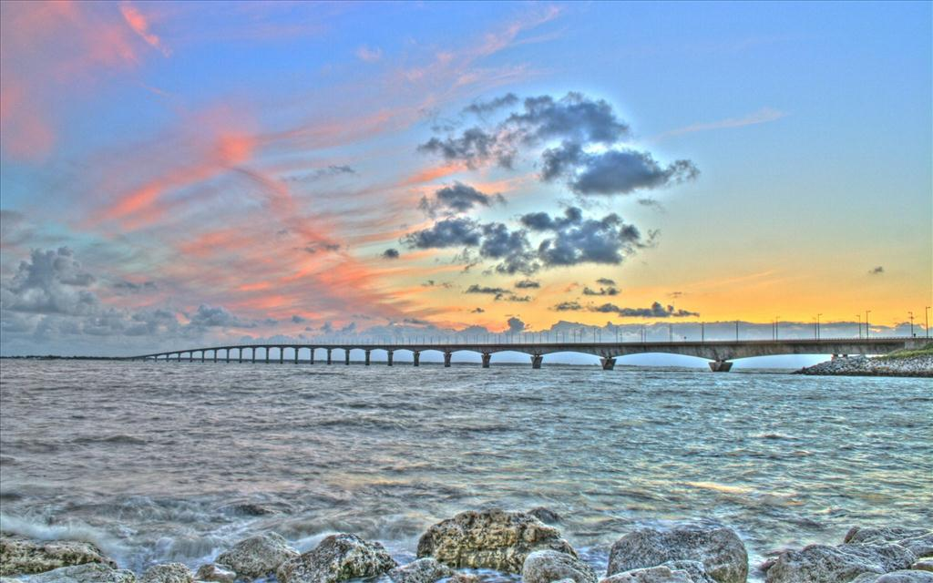 Fond d 39 cran pont de l 39 le de r - Ile de re lieux d interet ...