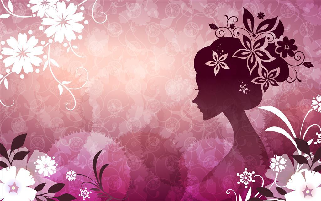 Fond d 39 cran fille fleurie for Fond ecran jolie fille