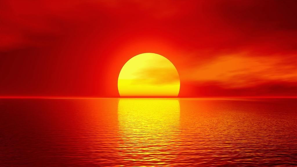 Fond d 39 cran coucher de soleil - Fond ecran coucher de soleil sur la mer ...