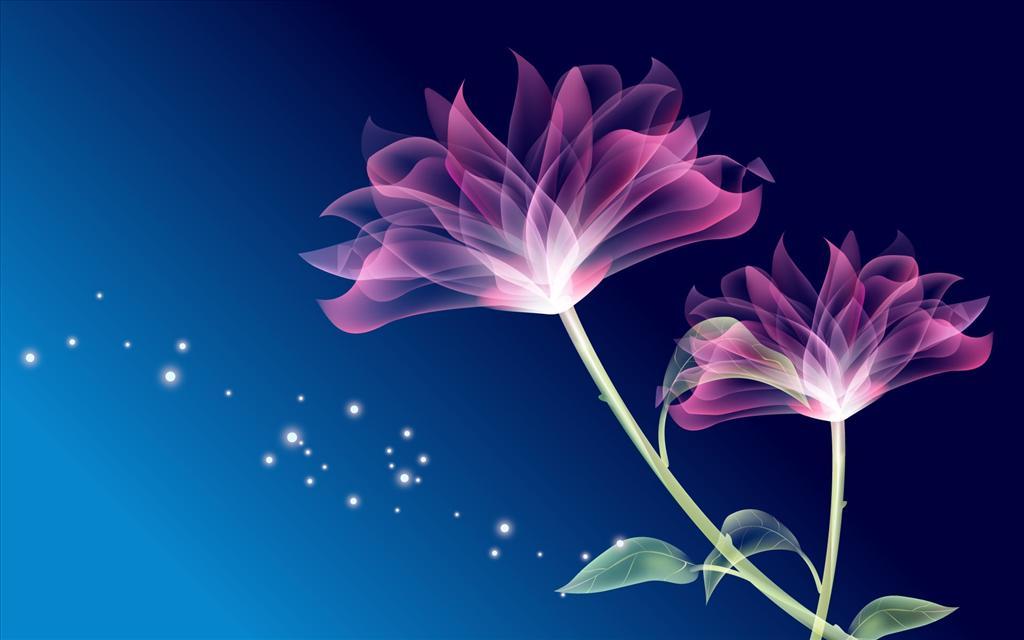 Fond D Ecran Fleurs Magiques