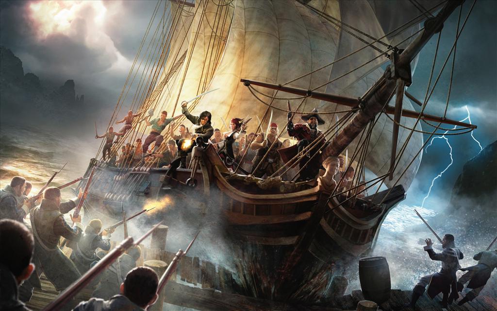 Fond d 39 cran bateau pirate - Image bateau pirate ...