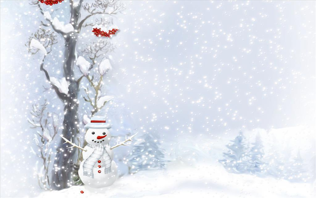 Fond d 39 cran bonhomme sous la neige for Fond de page word gratuit
