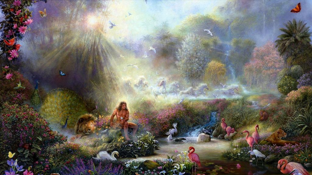 Fond D Ecran Jardin D Eden